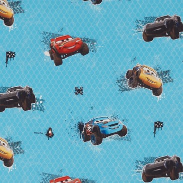 Cars Disney Fabric MUDRACE.400.140